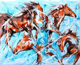 450 Harde de chevaux
