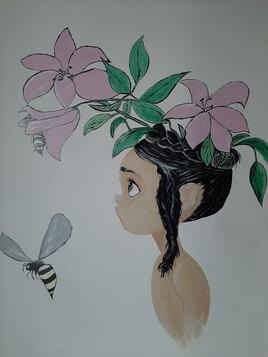 La petite fille au guêpes