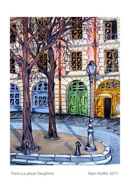 La place Dauphine à Paris