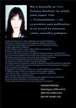 Transmutations, contes, nouvelles et scénarios de Vanessa Martinez avec illustrations. 2018