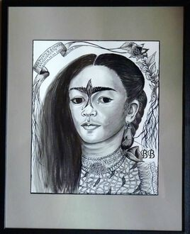 """""""Frida Kahlo, Autoportrait dédié à Marte R. Gomez"""""""