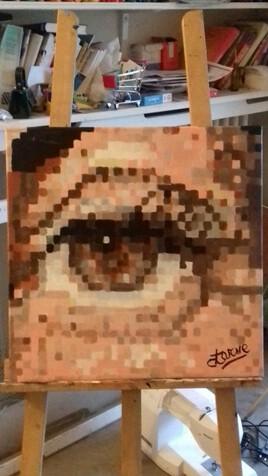 Clarisse 50 cm x 50 cm peinture