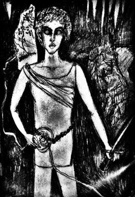 """""""Thésée dans le labyrinthe."""" de Vanessa Martinez Volterra"""