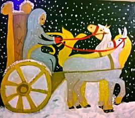 le chariot du royaume de Noël