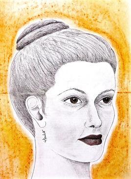 Portrait Femme au chignon / Drawing Portrait of a woman with a bun