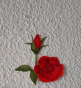 Roses au crayons de couleurs