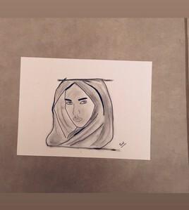 Mujer con el pañuelo