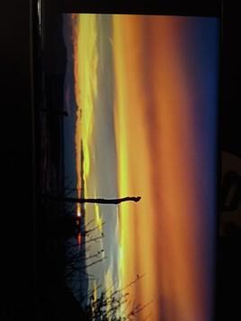 Coucher de  soleil  sur l' étang de  Thau