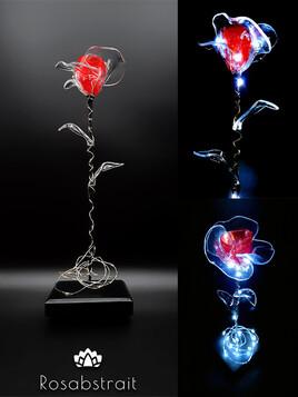Rose éternelle lumineuse - Sweet rose rouge