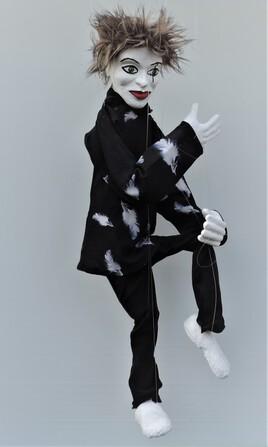 """""""mime plume"""" marionnette à fils JfG"""