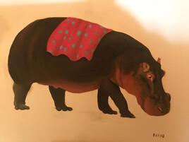 Hippopotame pour hippodrome