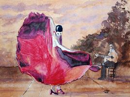 Danseuse flamenco série 1