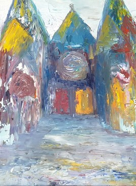 Cathédrale Clermont-Ferrand 6èmes prix peinture de rue de la ville