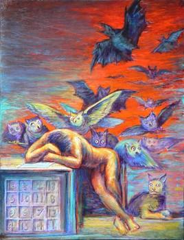 Le Sommeil de la Raison engendre des Monstres. (Hommage à Goya.)