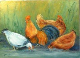 Les poules de Marie-Madeleine