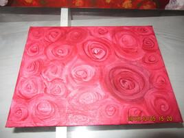 boutons de roses rouges