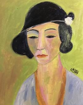 """""""La Femme au chapeau noir"""" ( Edouard Bisson)"""