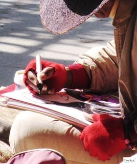 Ange artiste de rue