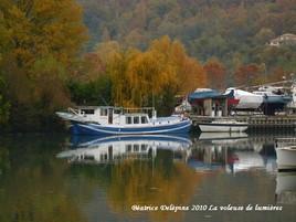 Reflets d'automne sur le Rhône