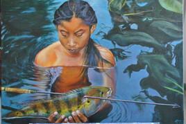 Enfant tribu amerindienne ( Guyane )