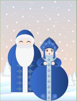 Les Célestines -Snegurochka et Ded Moroz
