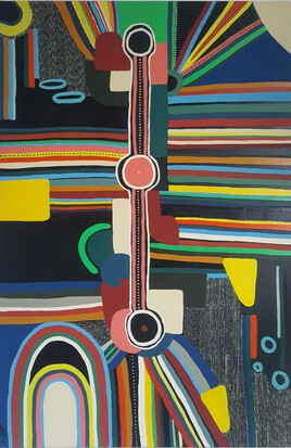 peinture d'inspiration aborigène