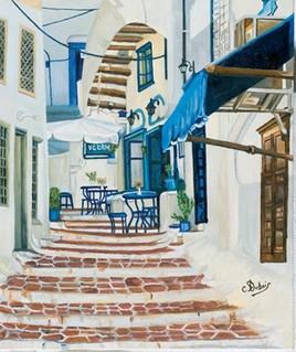 бар артистов на острове ГРЕК  艺术家酒吧在GREEK岛上