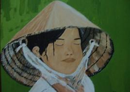 Petite fille vietnamienne (réflexion)