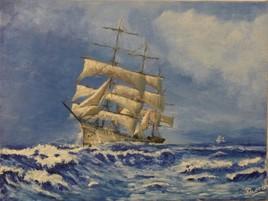 Marine :  voilier école Danmark