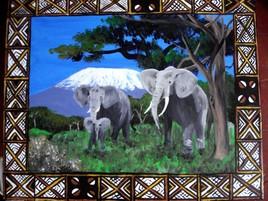 éléphants kilimandjaro