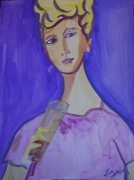 La dame à la flûte .