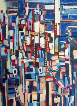Le Pont - Tableau abstrait