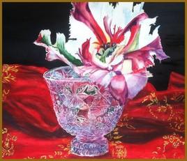 La tulipe et le vase de cristal