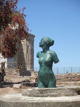 Buste de jeune femme romaine