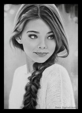 """Laneya"" - dessin en noir et blanc"