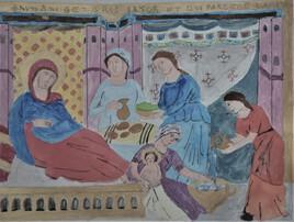 la nativité de la vierge ( Pietro Cavallini, vers 1291)
