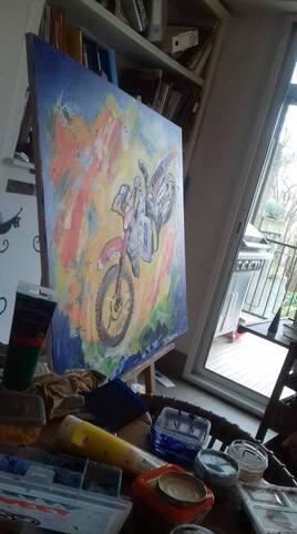 étape de création d'une peinture