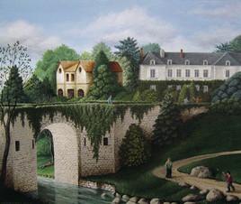 Le petit pont fortifié du château de la Mustière