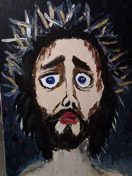 La souffrance du Christ  60 cm x  80 cm