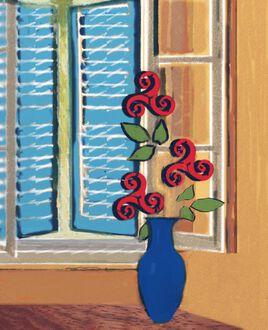Bouquet aux Triskèles rouges