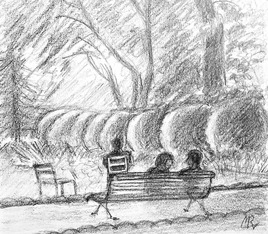 Conversation au Luxembourg / Drawing Conversation at the Luxembourg's garden