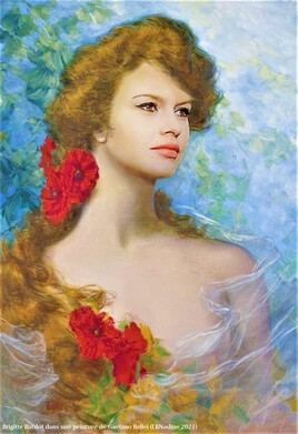Bardot revisite une peinture de Gaetano Bellei..