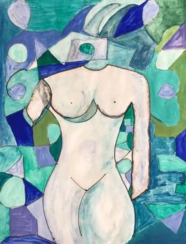 La femme vitrail