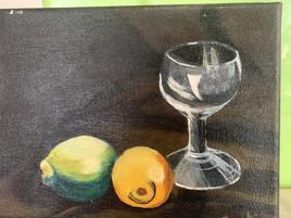 Étude du verre en peinture