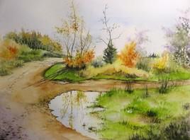Peinture Marche pas dans l'eau