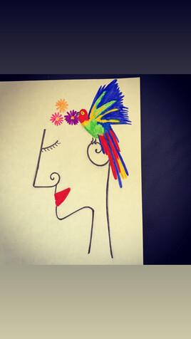 La femme et le perroquet