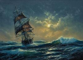 Clair de lune sur l'océan