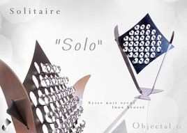 Autre Solitaire '' Solo '' en Acier et Inox by Objectal