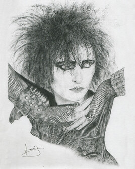 Dessin de portrait de Siouxsie Sioux