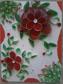 Rosace rouge